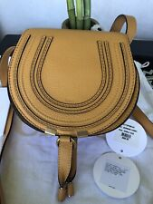 💕 CHLOE MINI MARCIE  Leather Crossbody / Shoulder bag - Burning Camel