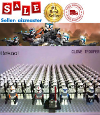 21pcs lot STAR WARS Clone Trooper Commander Fox Rex Mini toy building block
