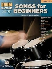 SONGS FOR BEGINNERS VOL. 32 - DRUM PLAY-ALONG BOOK/ONLINE AUDIO 704204