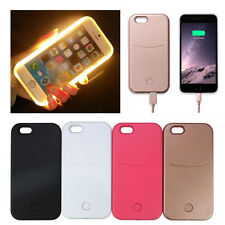 LED Licht Handy Selfie Tasche Schutz Hülle Schale für iPhone 5 5s SE 6 6s 7 Plus