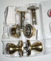 Kwikset Tylo 695T 3 CP CODE K6 BBPKG Brass Door Knob Deadbolt Combo NO KEYS FP73