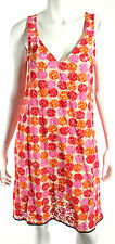 MARNI Pink, Orange, & Red Polka Dot Lace V-Neck Tank Dress 44