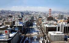 "SAPPORO JAPAN A4 CANVAS GICLEE ART PRINT POSTER 11.7""x7.6"""