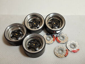 Part 1/18 Porsche Tuning Wheels 4 pcs & Brakes (rubber, plastic)