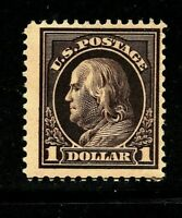 [FB] Fine US #423  Mint-OG 1912 DL Watermark Perf 12 ~ $1 Franklin...Ships Free!