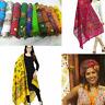 Cotton Women STUNNING vintage Dupatta/Scarf/Shawl/sarong/head scarf Long Embroid