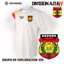 CAMISETAS TECNICAS: DIVISION AZUL / GRUPO DE EXPLORACION 250