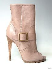 new $1250 JIMMY CHOO Deja tan leather buckle BOOTIES ankle boots shoes 36.5 6.5