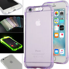 LED Selfie Light Up Latest Style Clear TPU Case Coque For iPhone HUAWEI Samsung
