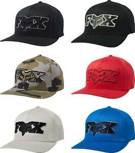 Mens Lid Cap Curved Bill MX MTB Motocross CAMO Fox Racing Episcope Flexfit Hat