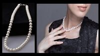 Freshwater Pearl White Drop Pearl Necklace Beaded Gift for Her
