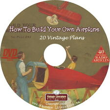 How To Build an Airplane { 20 Historic Aircraft ~ Blueprint Plans } on DVD