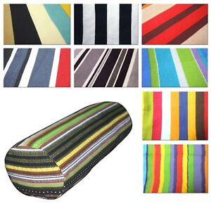 Bolster Cover*Striped Cotton Canvas Neck Roll Tube Yoga Massage Pillow Case*AK1