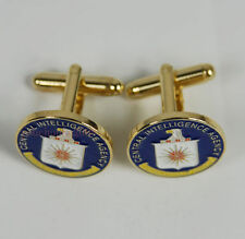 US Central Intelligence Agency CIA Cuff Links Badge With Box