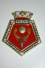 Hand made HMS Raleigh Ships Plaque
