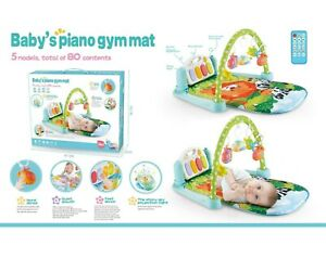 Baby Activity Gym Arch Playmat Musical Infant Fitness Piano Mat Projection UK