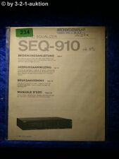 Sony Bedienungsanleitung SEQ 910 Graphic Equalizer (#0234)