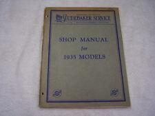 1935 STUDEBAKER SHOP MANUAL ORIGINAL   PLUS AEA TUNE-UP  CHART