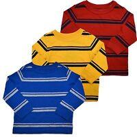 Tommy Hilfiger Long Sleeve T-Shirt Little Boys Striped Toddlers Crew Kids V306