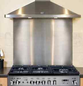 1.5mm 304 Grade Premium Stainless Steel Cooker Splashback Kitchen Hob Back Plate
