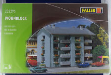 APARTMENT BUILDING / FLATS ~ STYRENE KIT by FALLER  ~ N SCALE