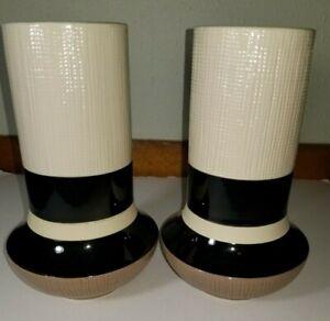 Target Home Vases - Beige, Tan & Black - Porcelain/Ceramic Vases Set Of 2