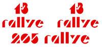 SET DE LOGOS 1.3 ET 205 RALLYE POUR PEUGEOT 205 SPORT GTI STICKER AUTO BD407