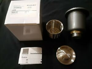 """Elkay LKDD 3-1/2""""D Stainer Basket - Stainless Steel Complete  New in box"""