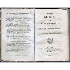 APPENDIX de DIIS et HEROIBUS POETICIS Histoire Poétique R.P Joseph JOUVENCY 1834