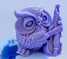 3D Owl Violin Silicone Fondant Mould Chocolate Sugarcraft Mold Baking Tool DIY