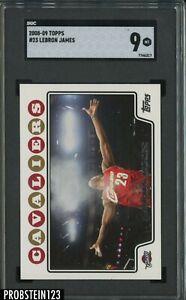 2008-09 Topps #23 LeBron James Cleveland Cavaliers SGC 9 MINT