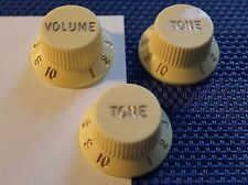 Fender Robert Cray Stratocaster Strat GUITAR KNOBS Volume Tone Aged White