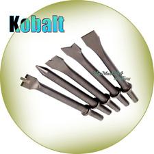 Kobalt 5-Piece Air Hammer Chisel Set Chipping Pneumatic Air Tool Accessories NEW