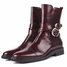 Fulinken 2 Color New Cap Toe Zip Leather Mens Formal Dress Ankle Boots Shoes