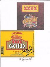 DARREN LOCKYER ~  QLD RUGBY LEAGUE LEGEND ~ HAND SIGNED BEER LABEL~ XXXX GOLD