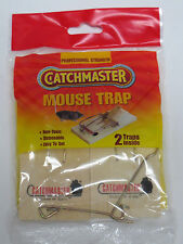 2 Pk Catchmaster professional strength Mouse Trap, Non-Toxic,easy set ;Brand New