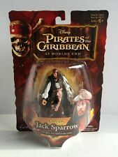 """Pirates of Caribbean POTC At World's End Captain Jack Sparrow 3.75"""" Figure NEW"""