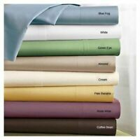 Soft Quality 6 PCs Sheet Set 1000 TC Egyptian Cotton Solid Colors AU King