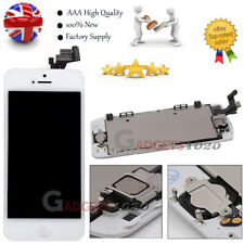 For White iPhone 5 Full LCD Display Touch Screen  Digitizer Home Button Camera
