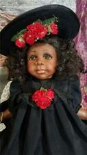 Mary, Signed Porcelain African American Doll by Janie Bennett w/Chair - Awesome!