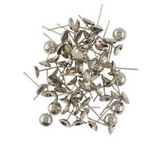 100Pcs/Lot Earrings Blank Cup Ear Stud Pin DIY Jewelry Findings 14 x 7mm