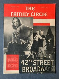 Family Circle Magazine January 2, 1942 1940's Lifestyle Cooking Recipes Ads