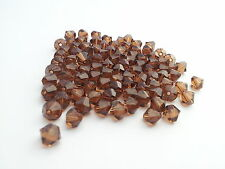 WHOLESALE LOT  Swarovski Bicone 4mm Smoked Topaz beads 320 beads (barg101)