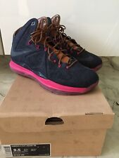 Nike Lebron X 10 EXT QS EUR 43 US 9.5 UK 8.5 Denim Midnight Navy Cork Hazelnut