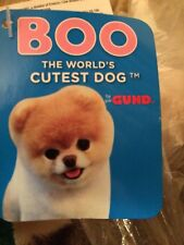 "GUND THE WORLDS CUTEST DOG  ""BOO  HOLIDAY HAT AND SCARF"" SOFT TOY NEW"