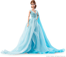 2017 Blue Chiffon Gown Silkstone Barbie NRFB still in tissue Articulated Body