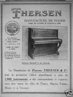 PUBLICITÉ DE PRESSE 1926 THERSEN MANUFACTURE DE PIANOS - ADVERTISING