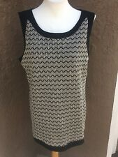 New Sold-out Chico's Travelers Black Chain Mesh Tank Top Size 3 = XL 16 18 NWT