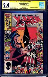Uncanny X-Men #211 CGC SS 9.4 WHITE signed Chris Claremont CLASSIC WOLVERINE
