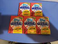 Five Unopened 1988 Topps Baseball Card Wax Packs